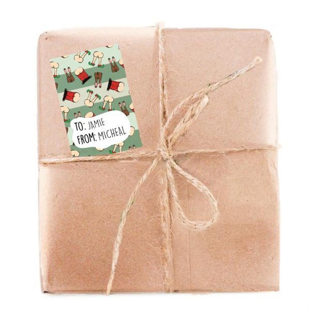 Christmas Butts Gift Tags