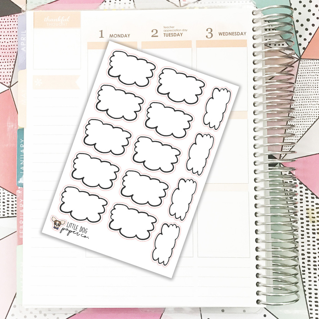 Squiggle Box Stickers