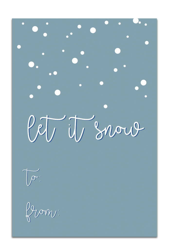 Let it Snow Gift Tags - Blue
