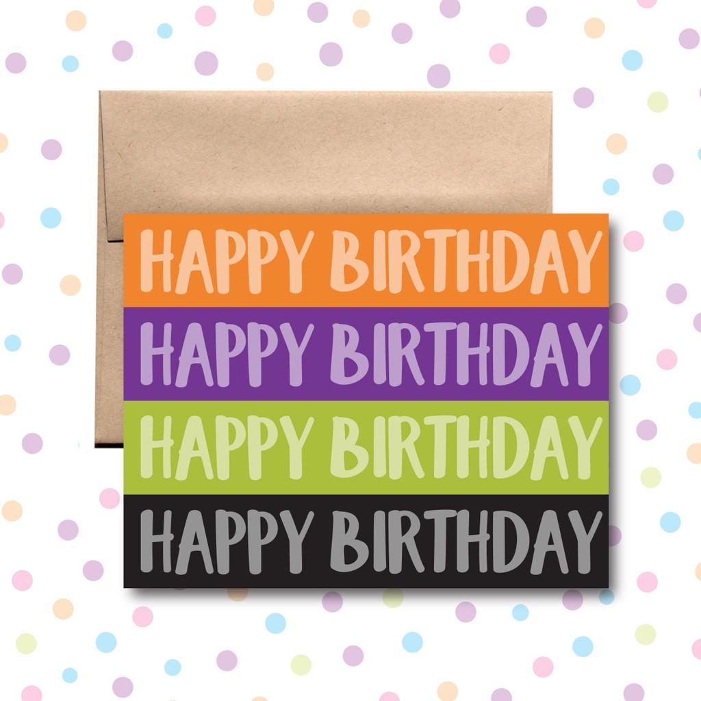 Happy Birthday Four Color Card