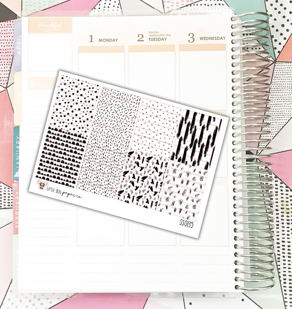 Pattern To Do Label Stickers