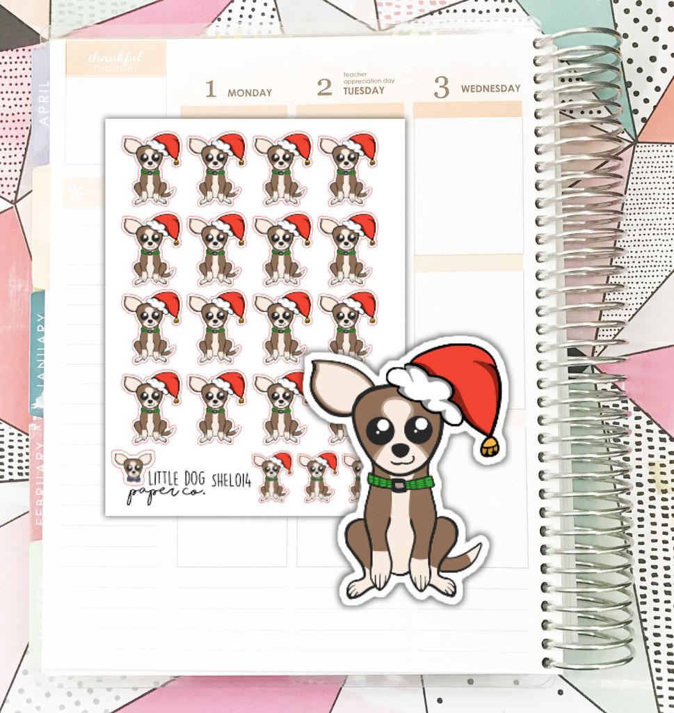 Sheldon Santa Hat Stickers