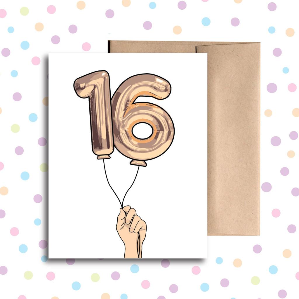 Balloon 16 Card
