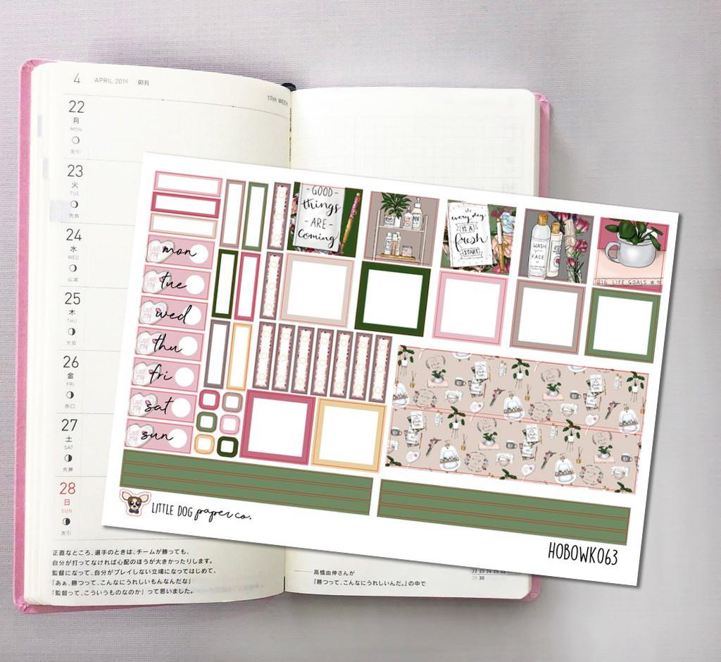 Me Time Hobonichi Sticker Kit