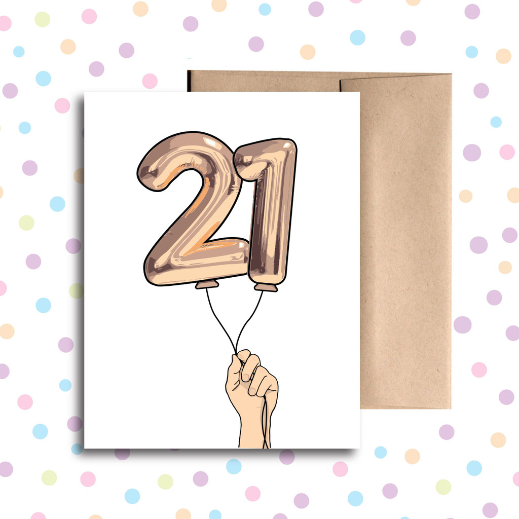 Balloon 21 Card