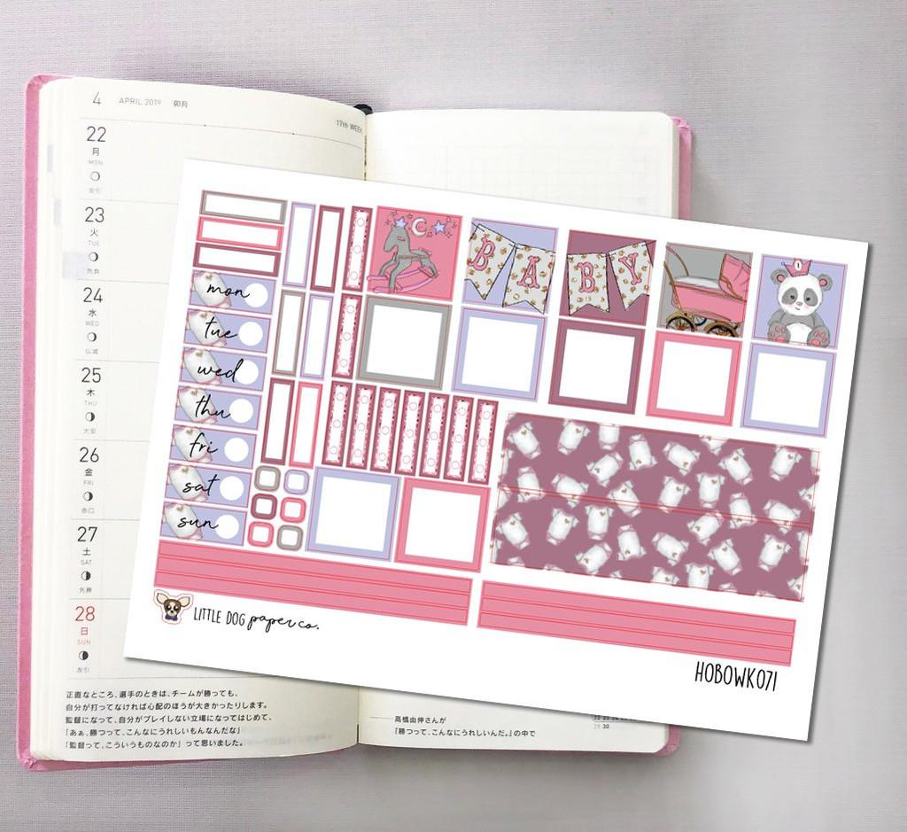 Baby Girl  Hobonichi Sticker Kit