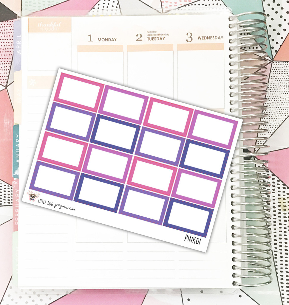 Pink  Box Stickers