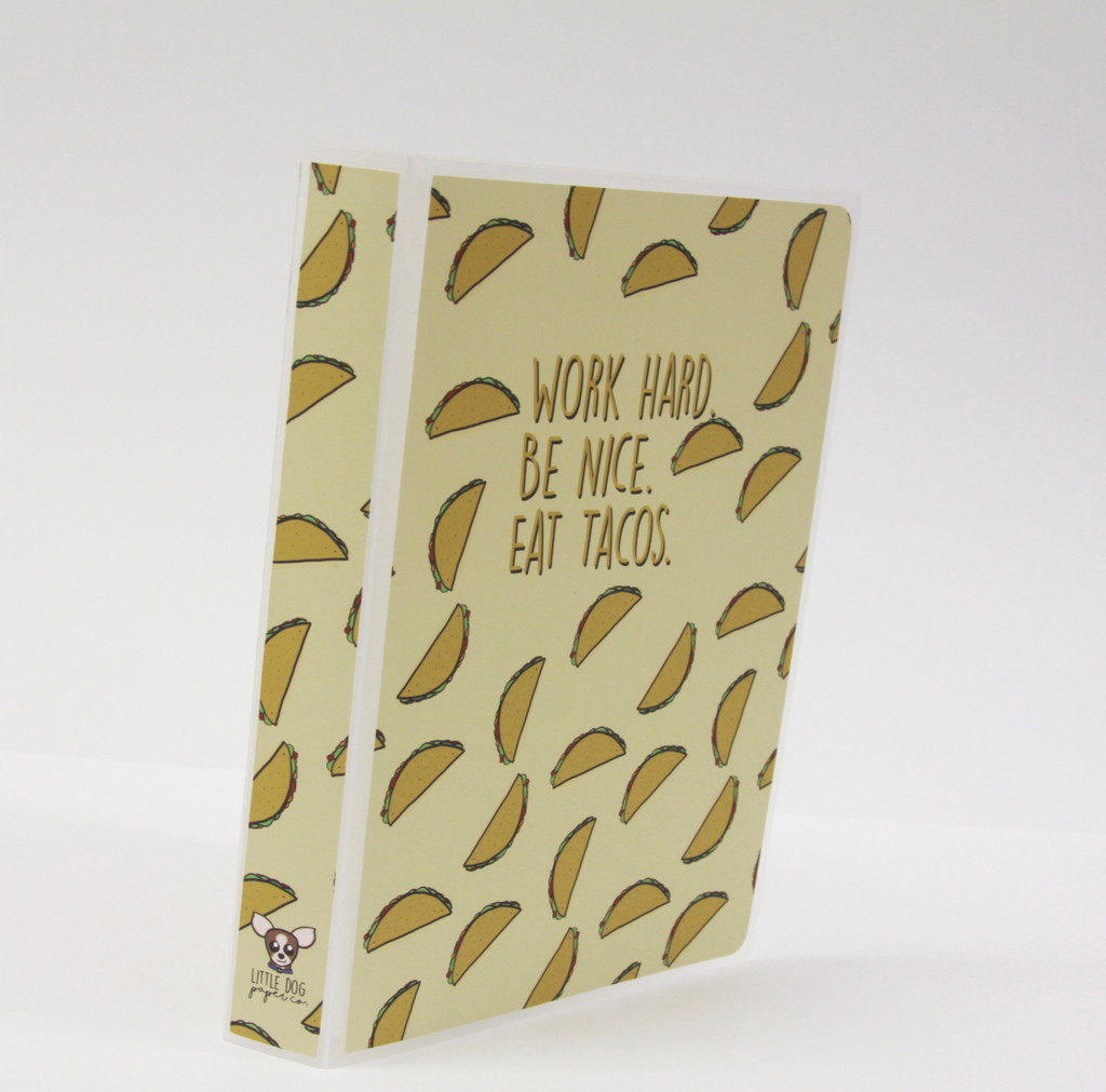 Work Hard, Be Nice, Eat Tacos Sticker Album