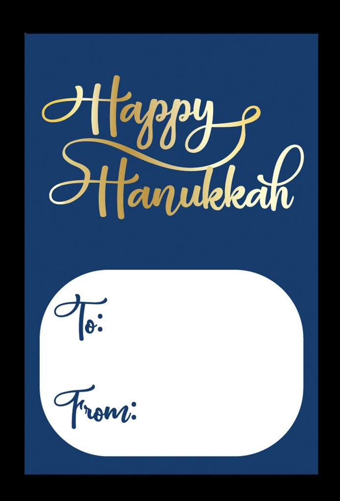 Happy Hanukkah Gift Tag