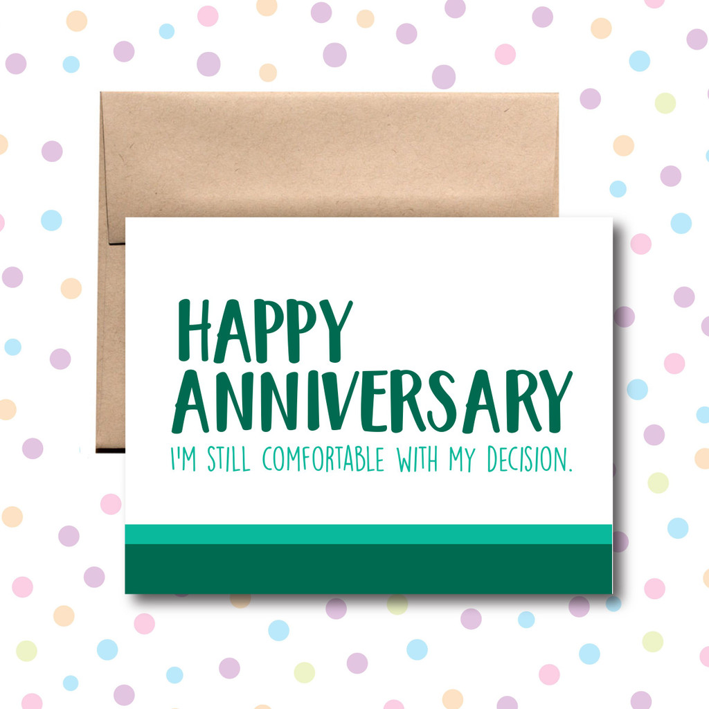 Anniversary Decision Card