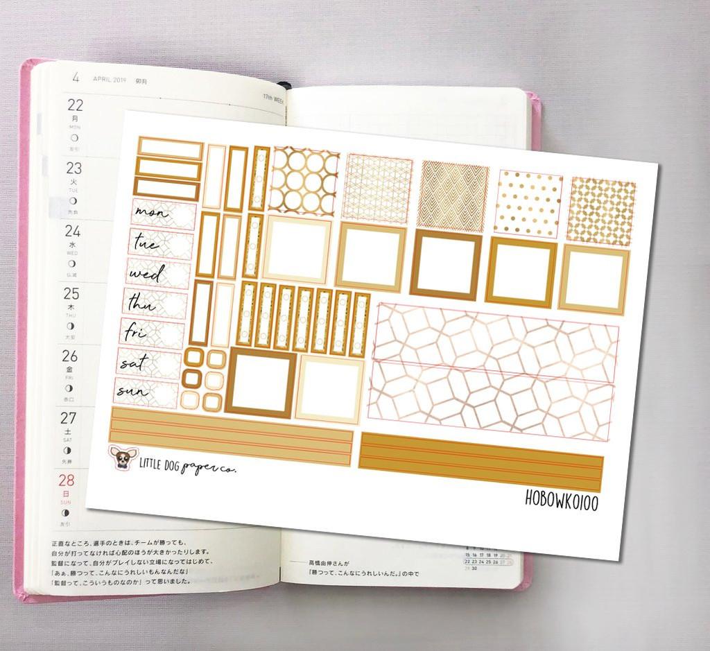 Golden Hour Hobonichi Sticker Kit