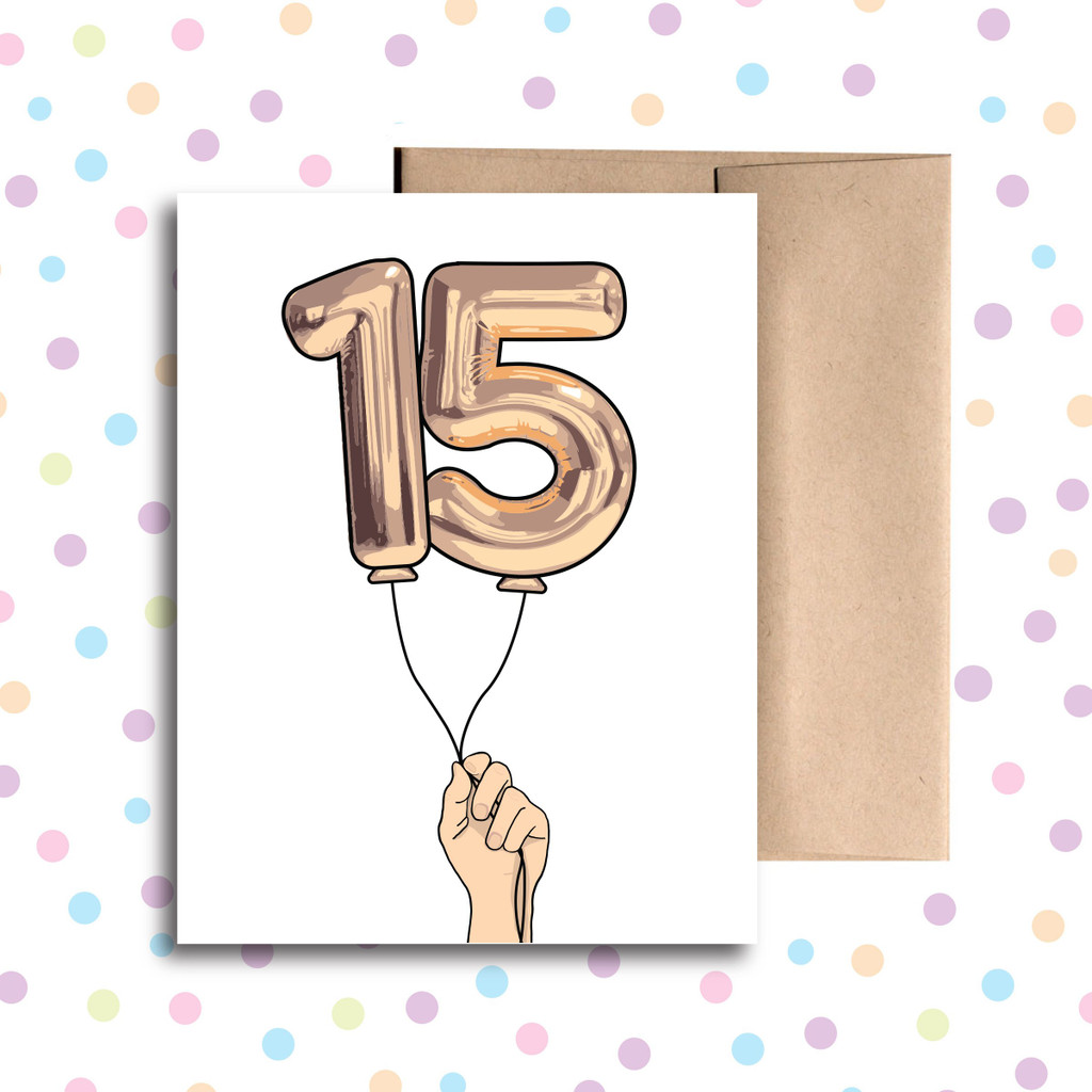 Balloon 15 Card
