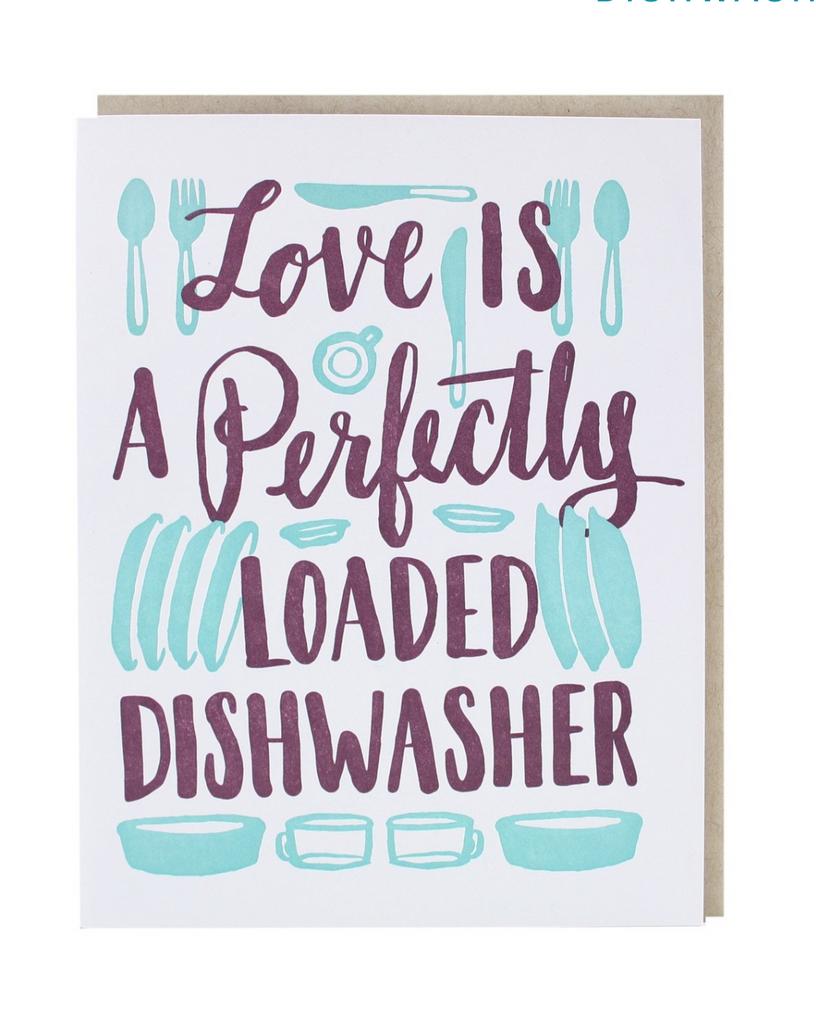 Dishwasher Love Card