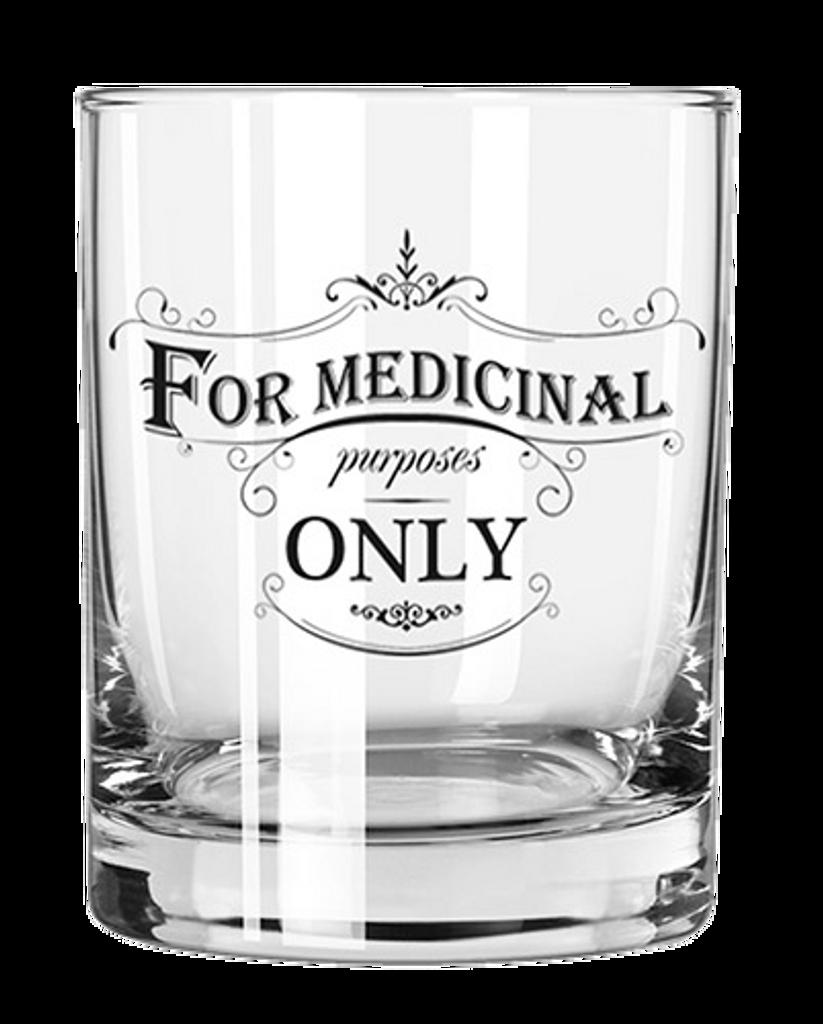 For Medicinal Purposes Rocks Glass