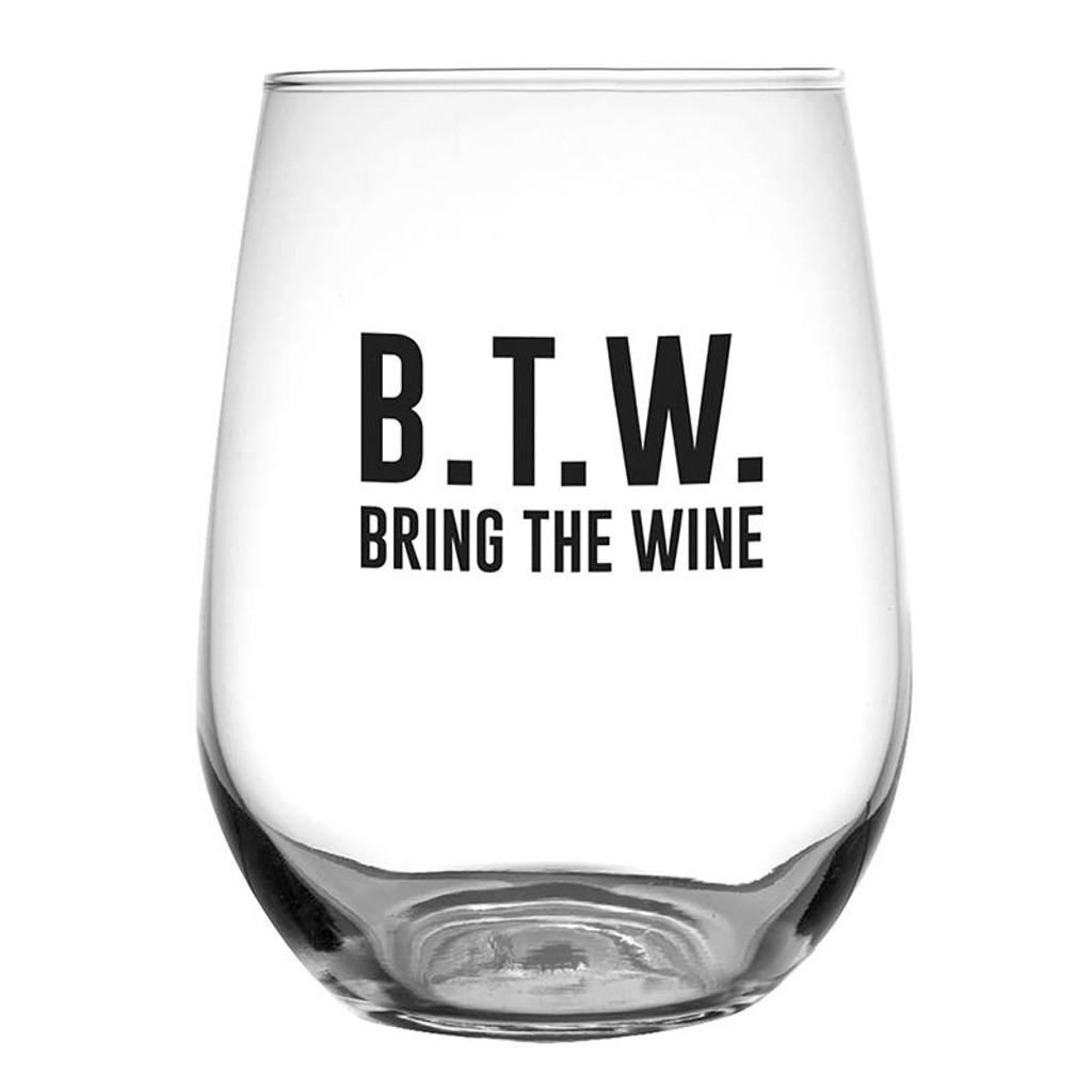 BTW Stemless Wine Glass