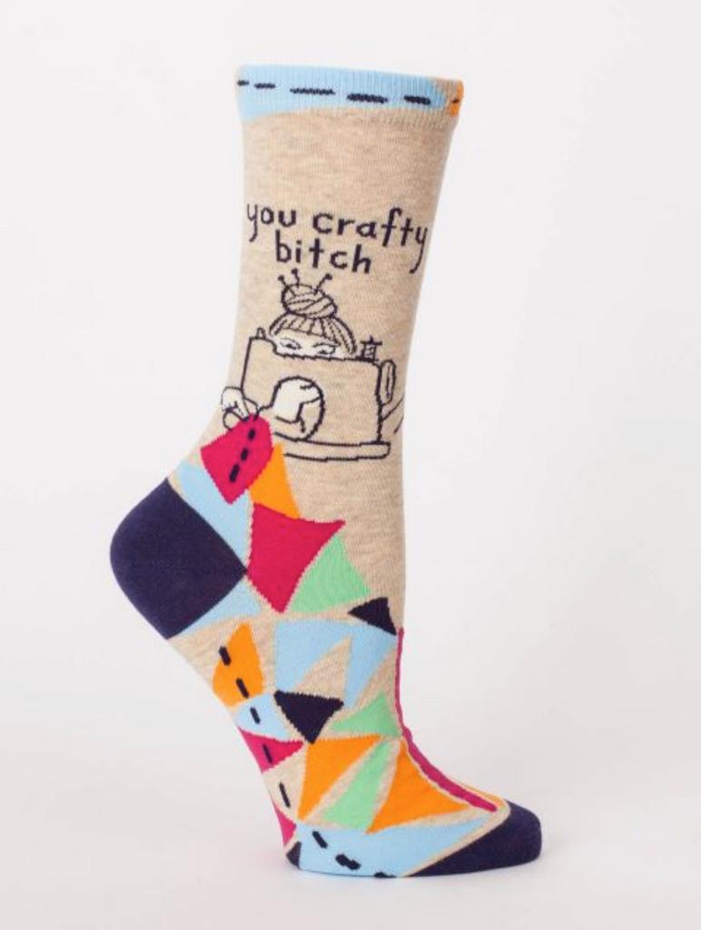 You Crafty Bitch Women Crew Socks