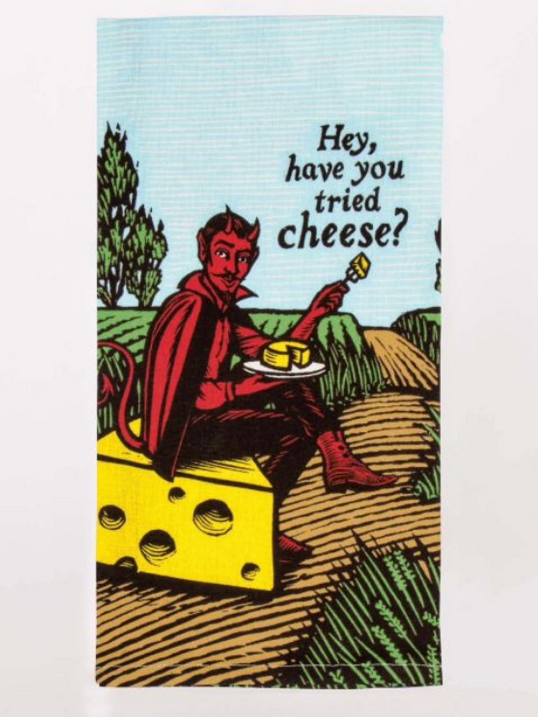 Have You Tried Cheese? Devil Dish Towel
