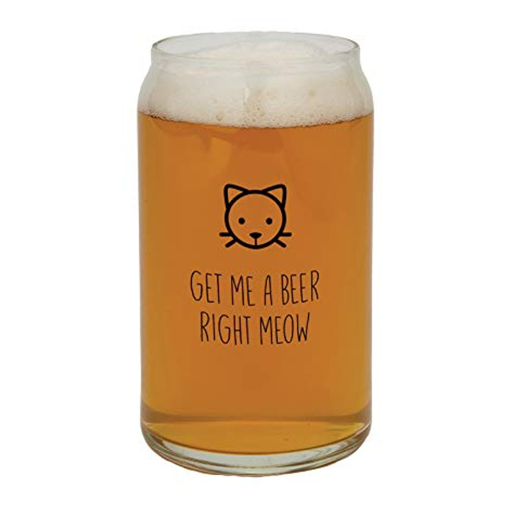 Get Me A Beer Right Meow Beer Glass