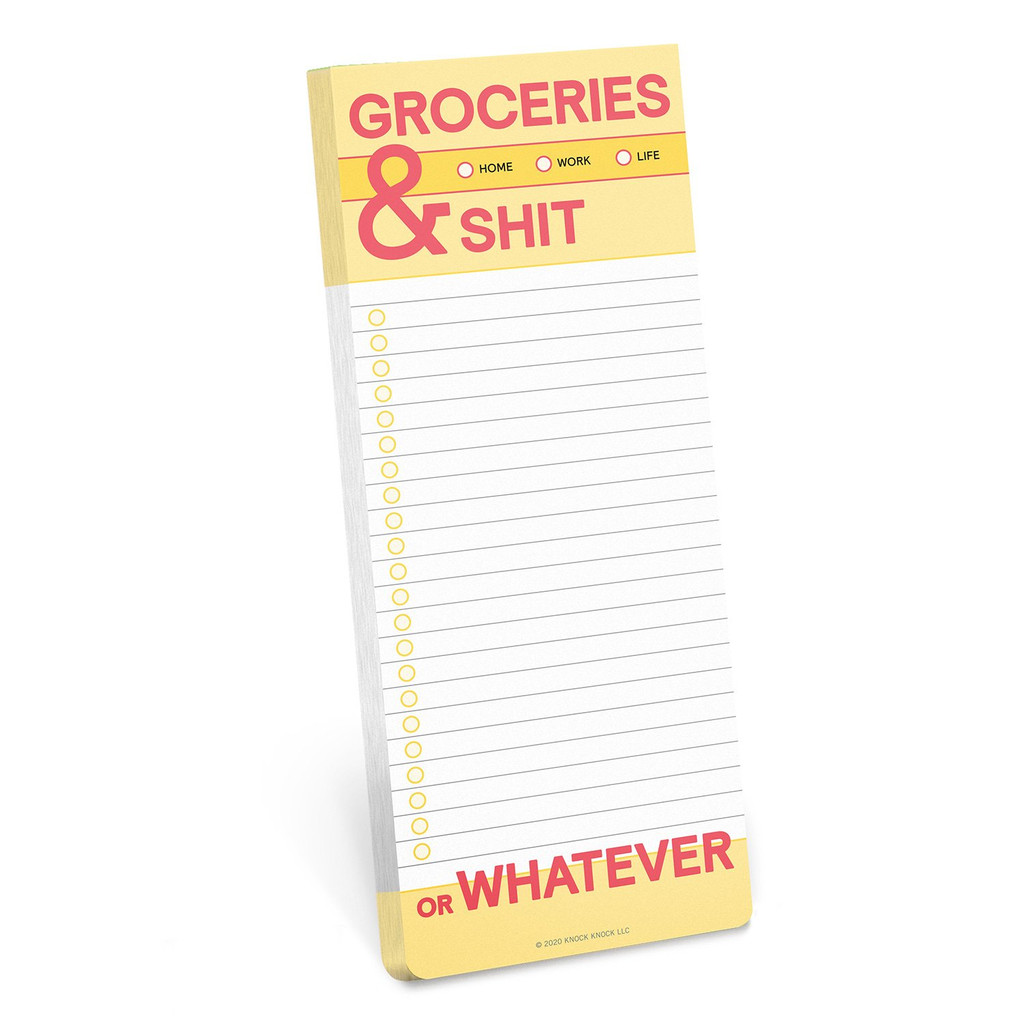Groceries & Shit List Pad