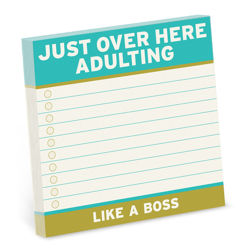 Just Over Here Adulting Real Big Stickies