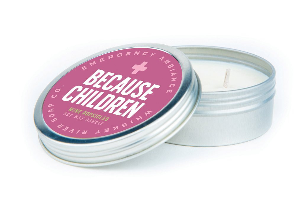 Emergency Ambiance: Because Children Candle Tin with Matches
