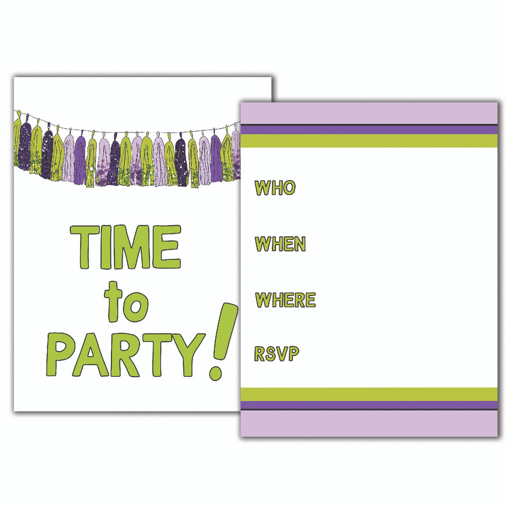 Time to Party Garland Invitation Set