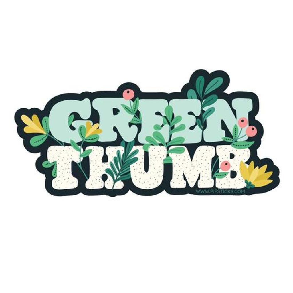 Green Thumb Vinyl Sticker