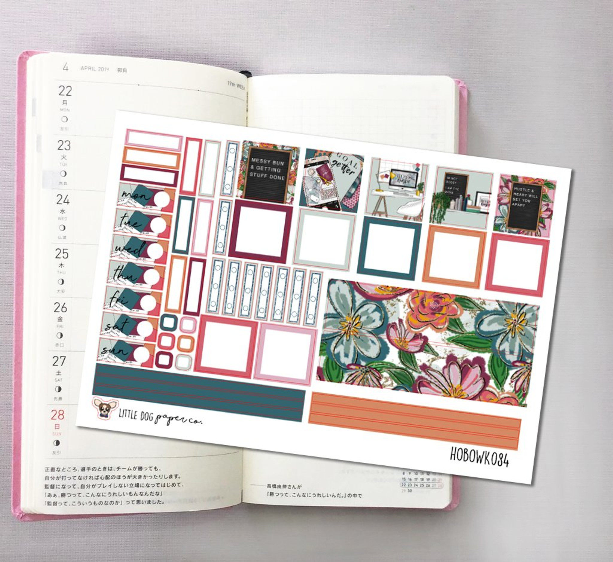 Boss Babe Hobonichi Sticker Kit