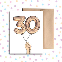 Balloon 30 Card