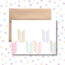 Colored Arrows Card Any Occasion Card