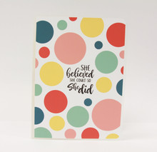 She Believed She Could and So She Did Sticker Album