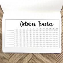 October Habit Tracker Sticker
