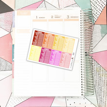 Stackable Sidebar | Chore Tracker | Warm Colors Stickers
