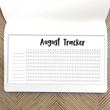 August Habit Tracker Sticker