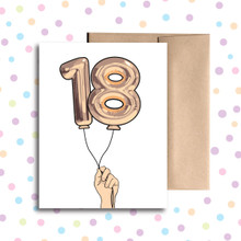 Balloon 18 Card
