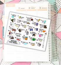 JANUARY 2020 Wacky Holidays Stickers