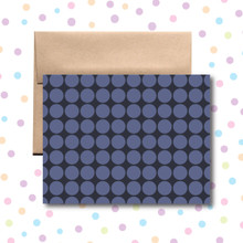 Purple Circles Card