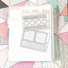 Silver Glitter Notes Pages Kit