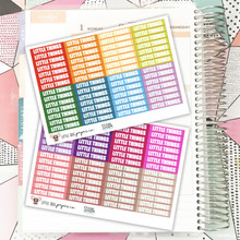 112 Little Things Label Stickers