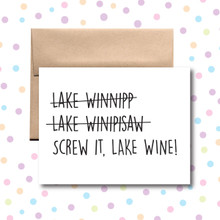 Lake Winnipesaukee/Lake Wine Card