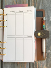 PERSONAL Size Inserts // Vertical Weekly