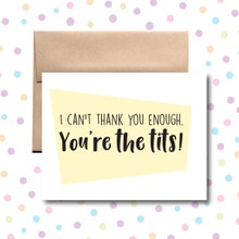 Thank You, You're the Tits! Card