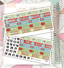 Holiday Ornament Date Covers Stickers