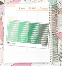 Green Hydrate Tracker Stickers