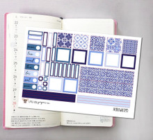 Cool Azul Tiles Hobonichi Sticker Kit