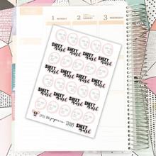 Sheet Mask Stickers // White