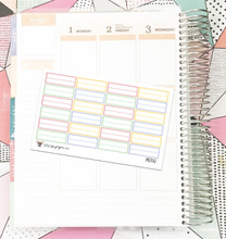 Pastel Appointment Box Stickers