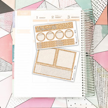 Peach Glitter Notes Pages Kit