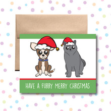 Furry Merry Christmas Card
