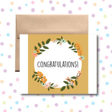 Congratulations Circle Card